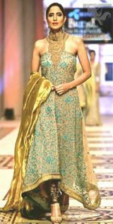 Pakistani Fashion 2017 – Light Brown Back Trail Maxi