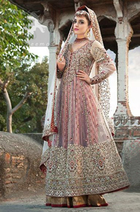 Designer Wear Anarkali Dress - Double Layer Frock - Dupatta