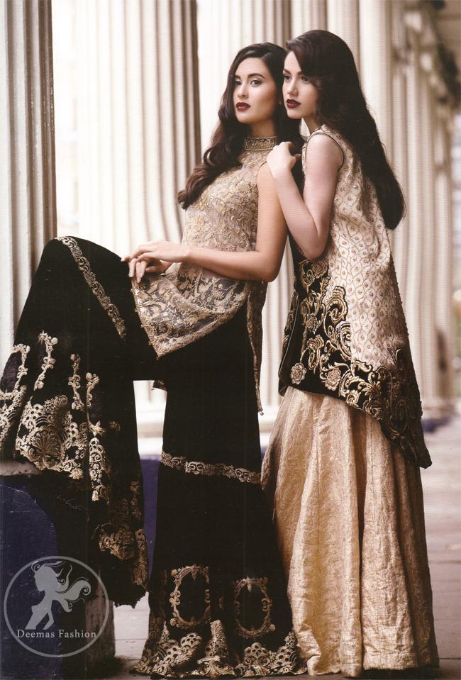 Black Embroidered Jacket With Banarsi Blouse Lehenga