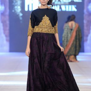 Dark Purple Party Wear Long Dress