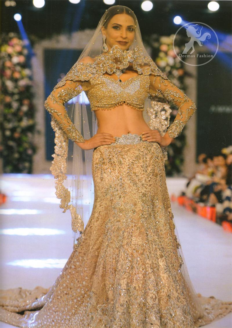 Light Brown Bridal Wear Lehenga Choli