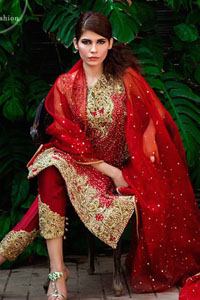 bright-red-formal-shirt-embroidered-capri-pants-2