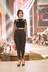 Elegant Black Party Dress -Embroidered Blouse -Trousers