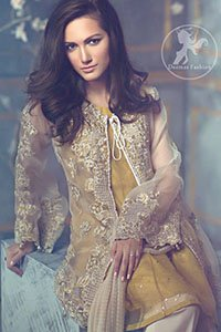 Beige-Front-Open-Gown-Golden-Shirt-Bell-Bottom-Embroidered-Pants (2)