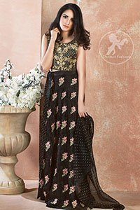 Black-Embroidered-Blouse-Skirt-Banarsi-Dupatta (2)