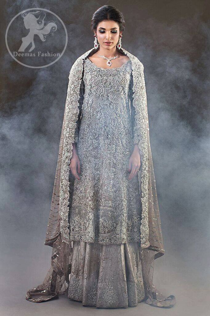 Fawn Bridal Frock - Banarsi Lehenga 2017