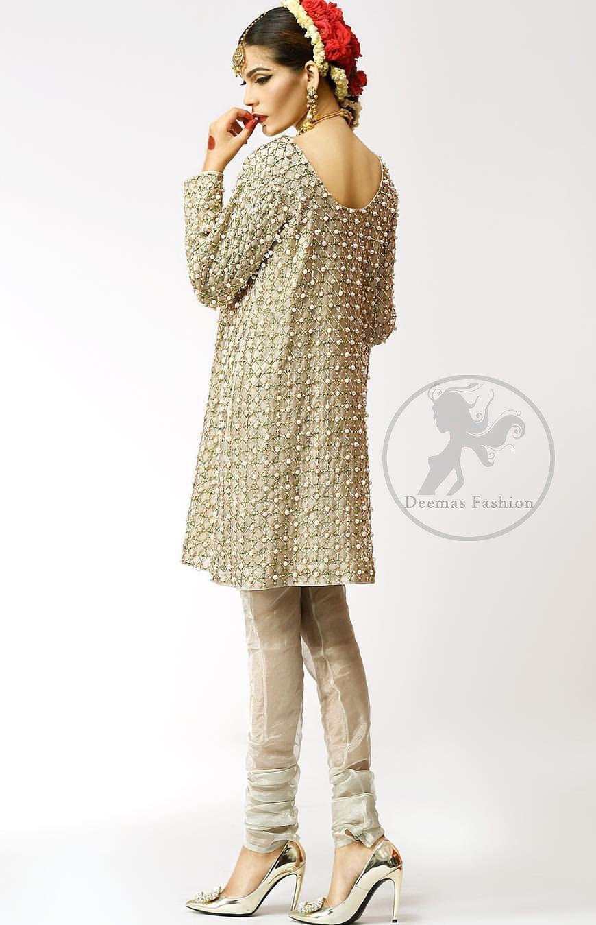 Ivory-Embroidered-Short-Shirt-Churidar-Pajama