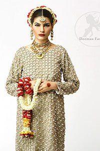 Ivory Embroidered Short Shirt - Churidar Pajama