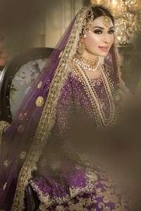 Purple Short Shirt Traditional Style Sharara Dupatta