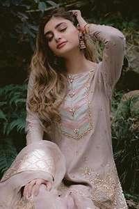 Pink Swan Short Shirt Gharara Dupatta