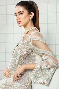White Front Open Shirt Straight Trousers Dupatta