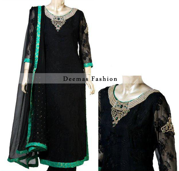 Black Casual Wear Kameez Trouser