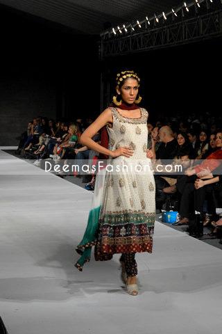 Buy Latest Designer Wear – Elegant White Anarkali Dress