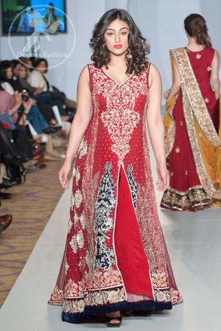 Designer-wear-Bright-red-Formal-pishwas