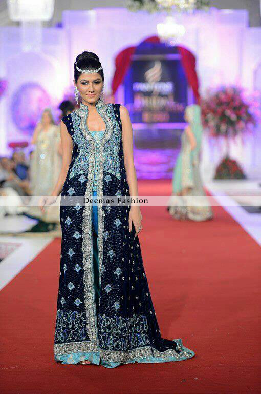 Heavy Formal Navy Blue Front Open Gown