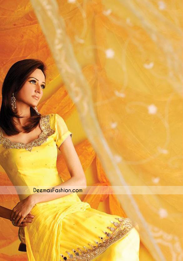 Latest Designer Clothes - Yellow Casual Wear Dress