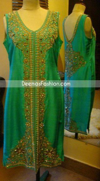 Latest Formal Trend - Ferozi Designer Front Open Dress