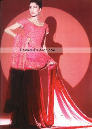 Latest Pakistani Fashion - Deep Pink Bridal Dress