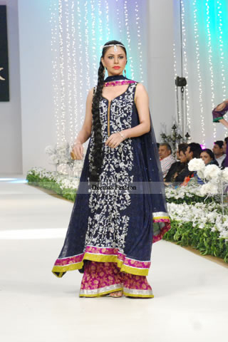 Latest Pakistani Fashion A-line Shirt Sharara