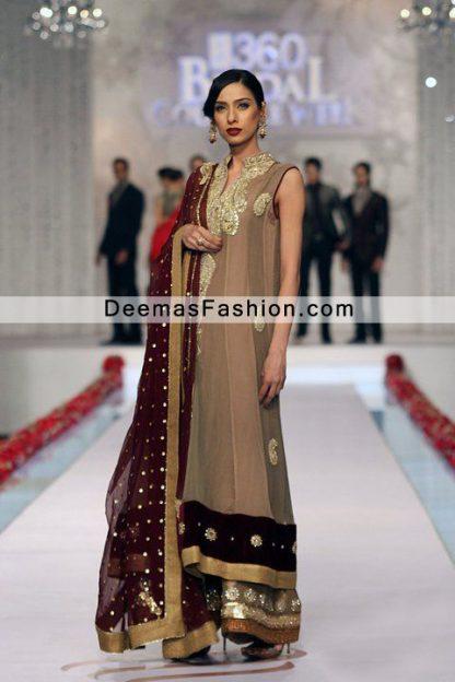 Latest Pakistani Eid Collection 2011 Multi Pannel Formal Wear Dress