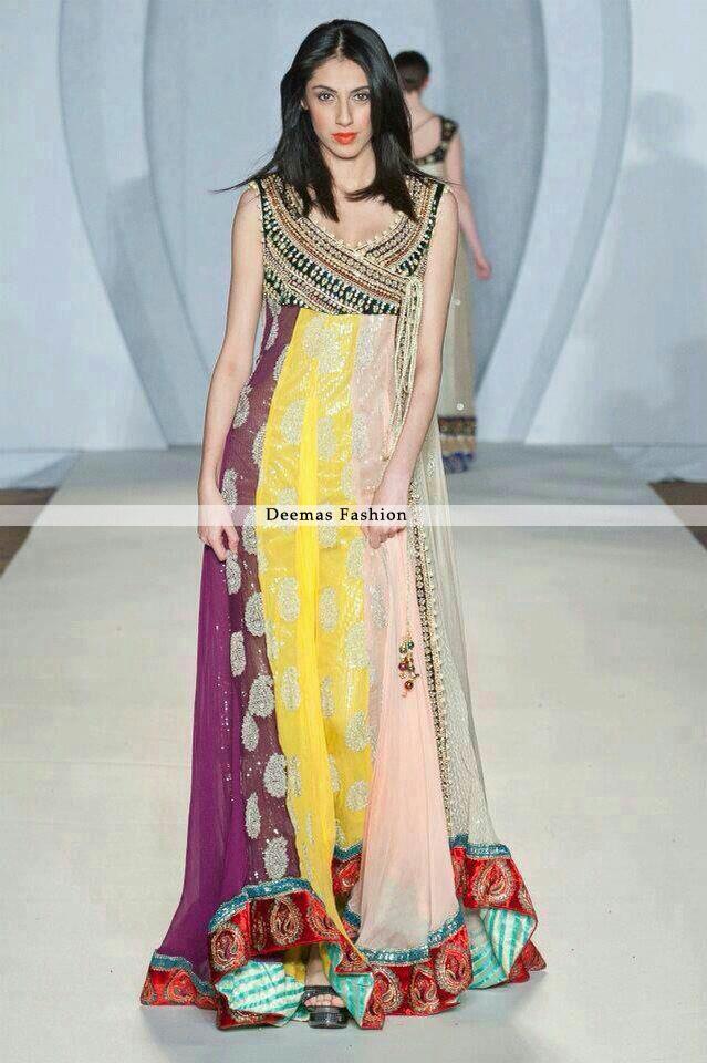 Multi Pannel Andrakha Style Pishwas