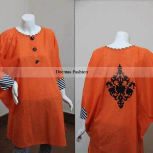 Orange Designer Kurti