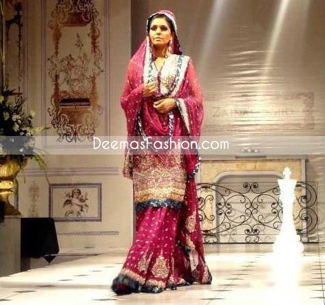Pakistani Fashion Designer Clothes Shocking Pink Sharara - Latest ...
