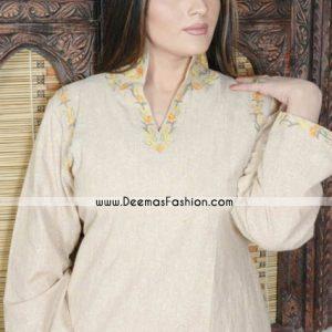 Pakistani Ladies kurtiz Trend – Black Embroidered Tunic Kurti