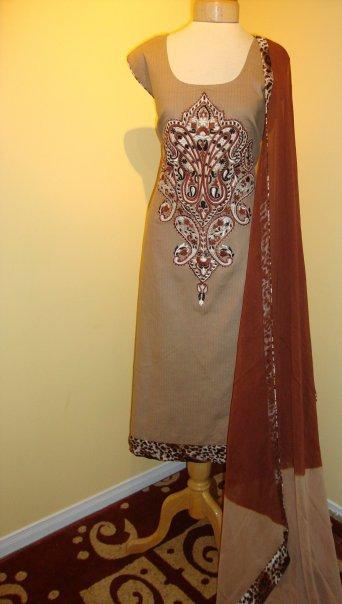 Pakistani Fashion - Chocolate Brown Dress