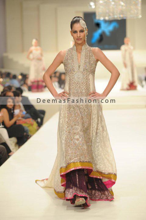 Pakistan Fashion - Off White Pishwas Outfit