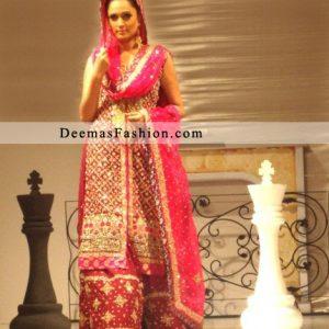 Red Designer Wear Bridal Dress