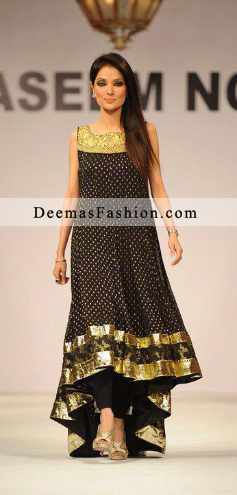Black Back Tail Anarkali Frock