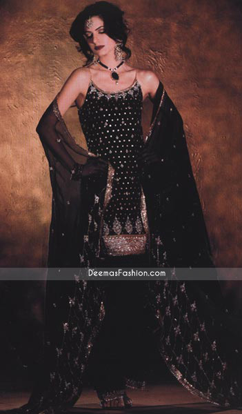 Latest Formal Design - Black Katan Silk