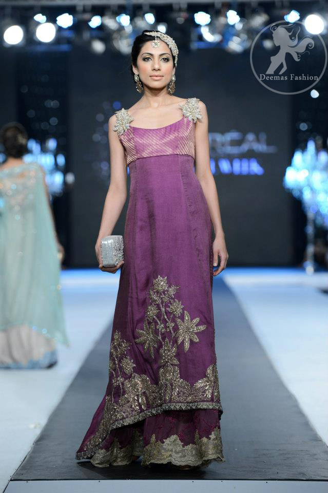 dark-mauve-back-trail-frock-and-embellished-lehnga