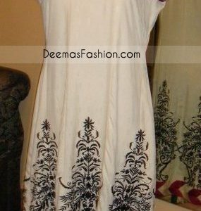 Pakistani Latest Fashion Elegant Red White Casual Dress