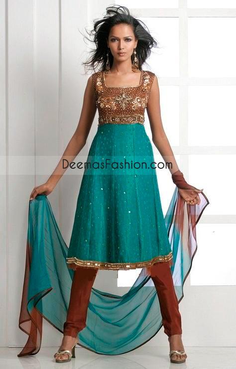 Pure Chiffon A Line Anarkali Frock Churidar Fashion
