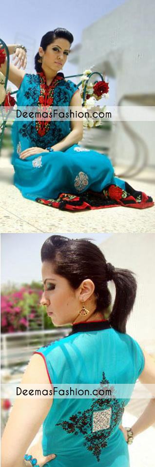 ferozi-aline-embroidered-casual-wear-dress1