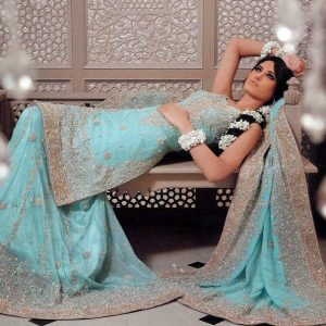 Traditional Pakistani Bridal Wear - Ferozi Sharara