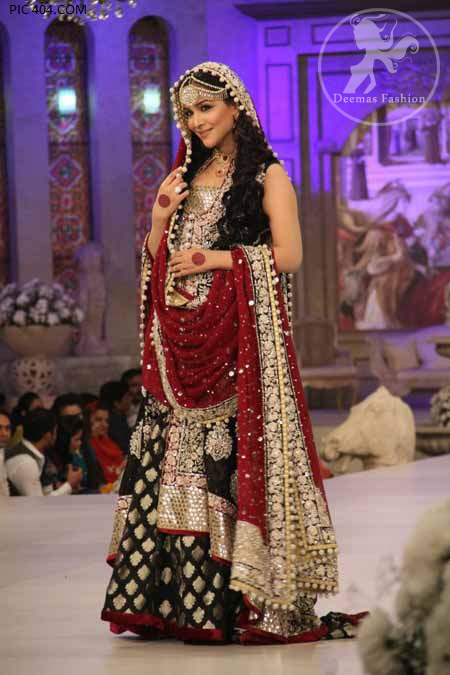 Front Open Long Barat Shirt Banarsi Lehnga and Heavy Dupatta
