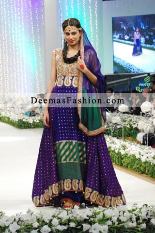 Multi colored dress pakistani