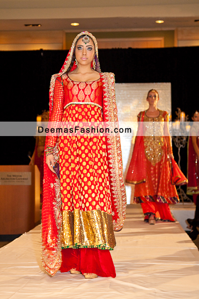 Latest Pakistani Fashion 2015 Red Formal Bridal Dress Latest Designer Dresses Fashion Wear