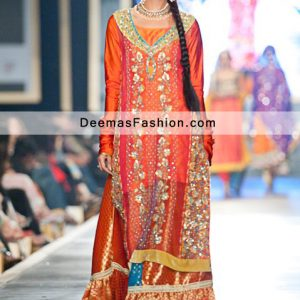 Latest Pakistani Fashion Multi Bridal Wear Sharara