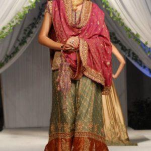 Mehndi Green-Rust Sharara