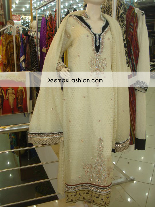 Off White Casual Wear Party Dress