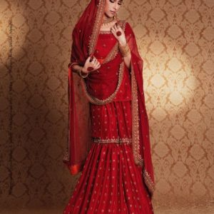 Traditional Red Gharara