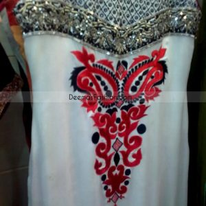 Pakistani Casual Designer Dress Elegant White