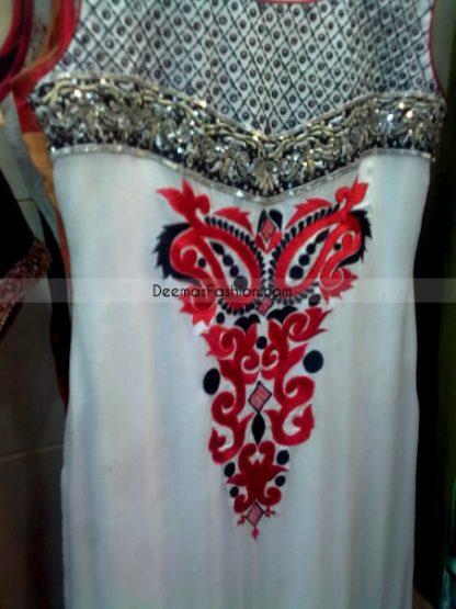 Pakistani Casual Designer Dress Elegant White