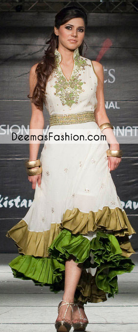 white-double-layer-anarkali-casual-frock1