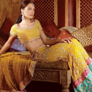 Yellow Indian Style Lehnga